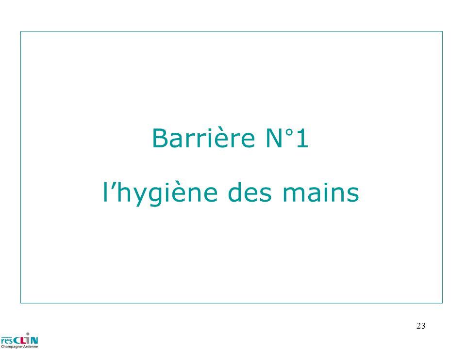 23 Barrière N°1 lhygiène des mains