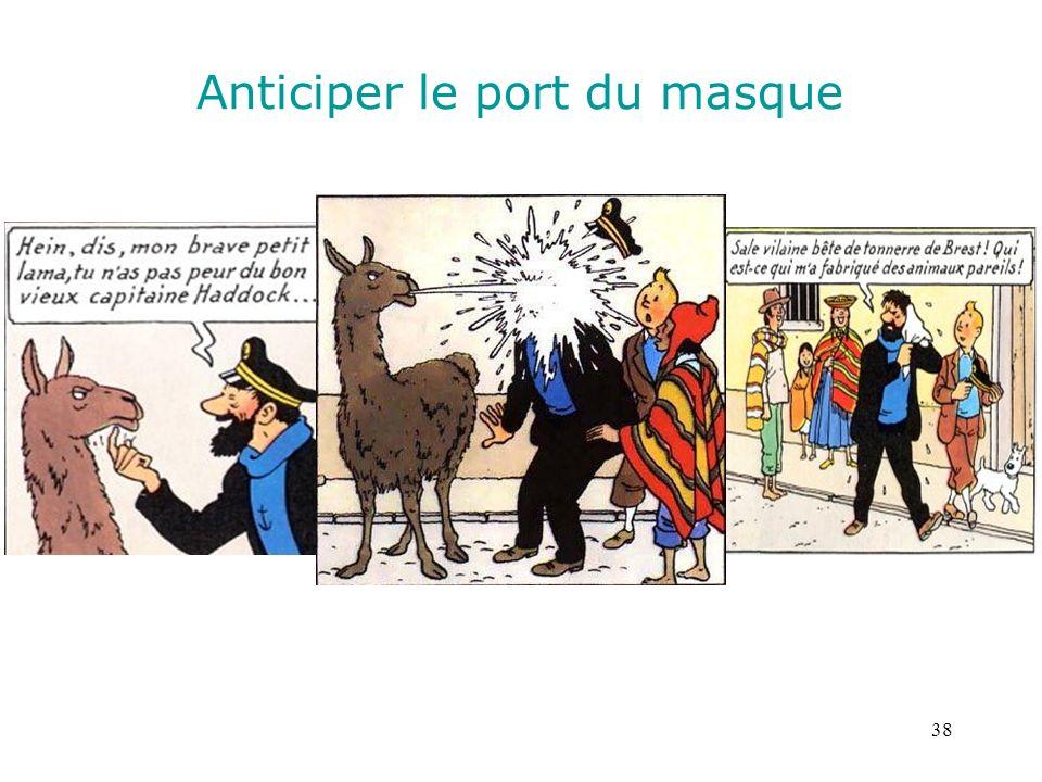 38 Anticiper le port du masque