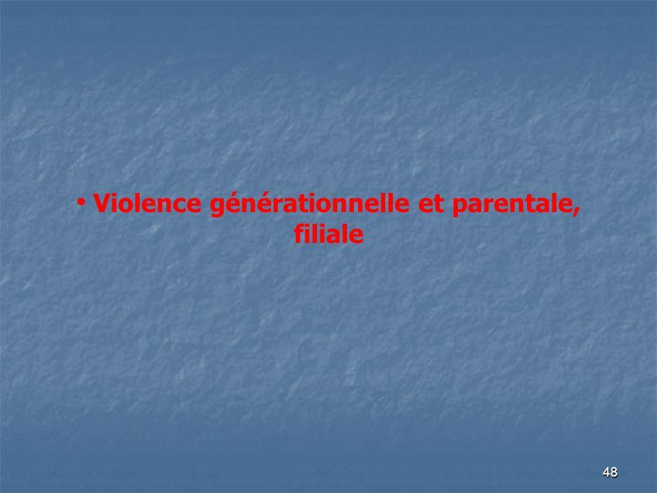 48 Violence générationnelle et parentale, filiale --