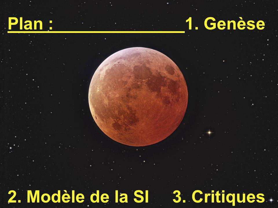 Plan :1. Genèse 2. Modèle de la SI 3. Critiques