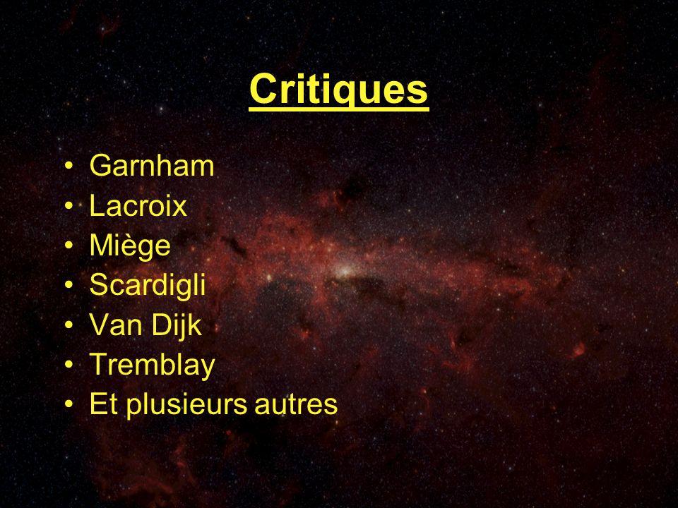 Critiques Garnham Lacroix Miège Scardigli Van Dijk Tremblay Et plusieurs autres