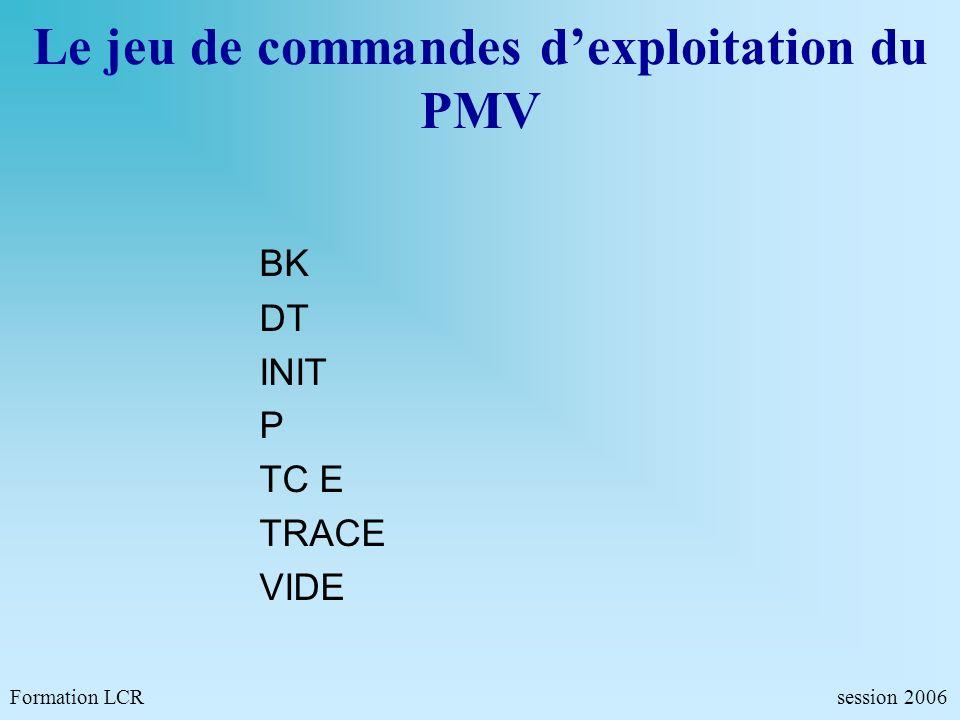Formation LCR- Commandes de configurations - session 2006 SETU Configuration des ports de communication SETU S SETU 1 PROT=T XMT=L BD=1200 PA=P ST=1 L