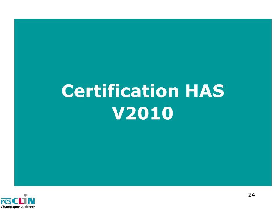 24 Certification HAS V2010