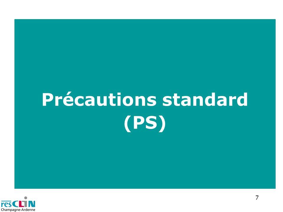 18 Protection de la tenue vestimentaire port d une surblouse (tablier) pour les soins potentiellement contaminants Port du masque occasionnellement recommandé soins avec risques daérosols rarement porté dans le cadre des PC PC contact