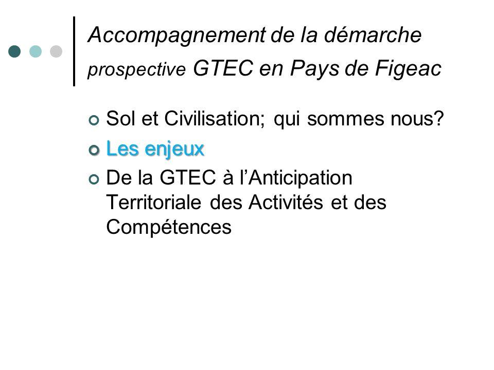 Accompagnement de la démarche prospective GTEC en Pays de Figeac Sol et Civilisation; qui sommes nous.