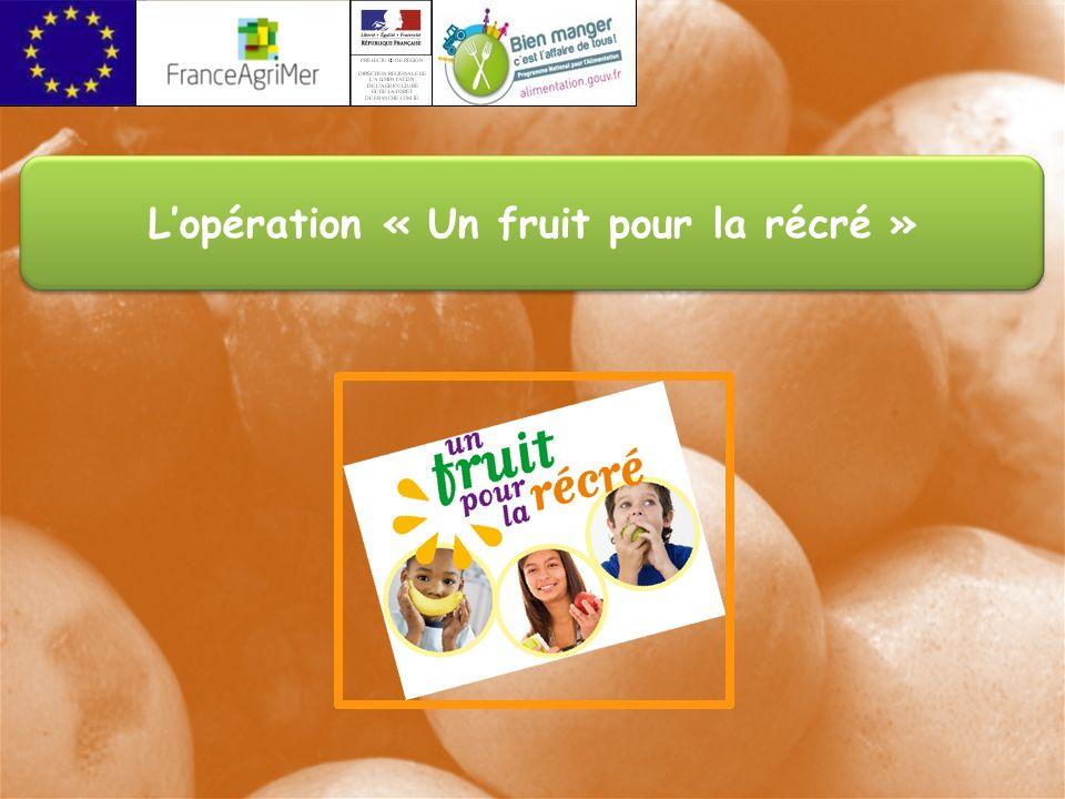 Lopération « Un fruit pour la récré »