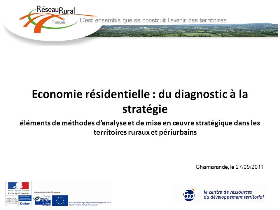 Economie résidentielle : du diagnostic à la stratégie éléments de méthodes danalyse et de mise en œuvre stratégique dans les territoires ruraux et pér