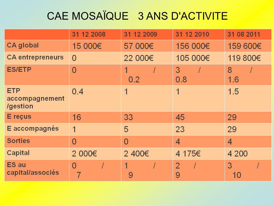 CAE MOSAÏQUE 3 ANS D ACTIVITE