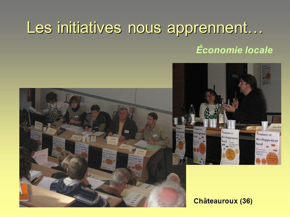 Les initiatives nous apprennent… Économie locale Châteauroux (36)