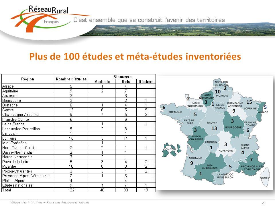 Village des initiatives – Place des Ressources locales 4 Plus de 100 études et méta-études inventoriées