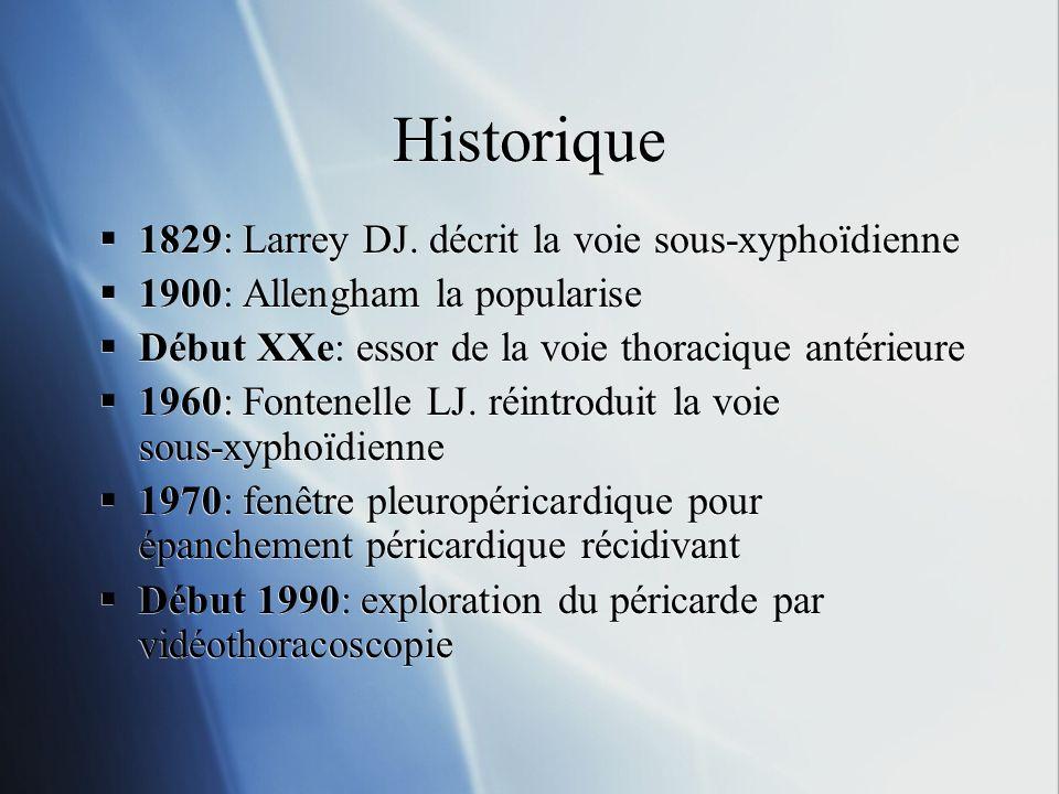 Historique 1829: Larrey DJ.