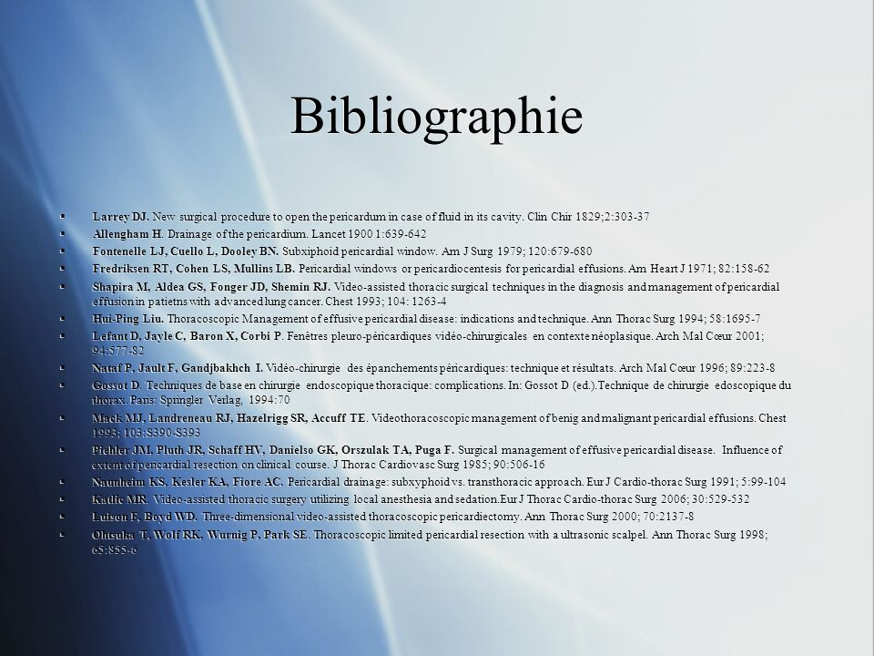Bibliographie Larrey DJ.