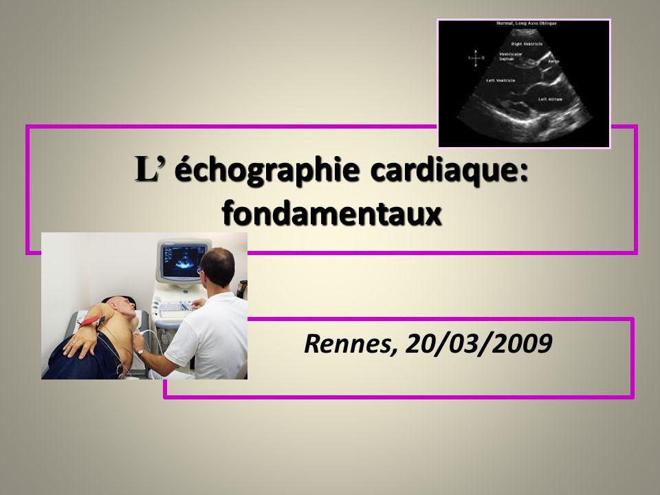 Rennes, 20/03/2009 L échographie cardiaque: fondamentaux