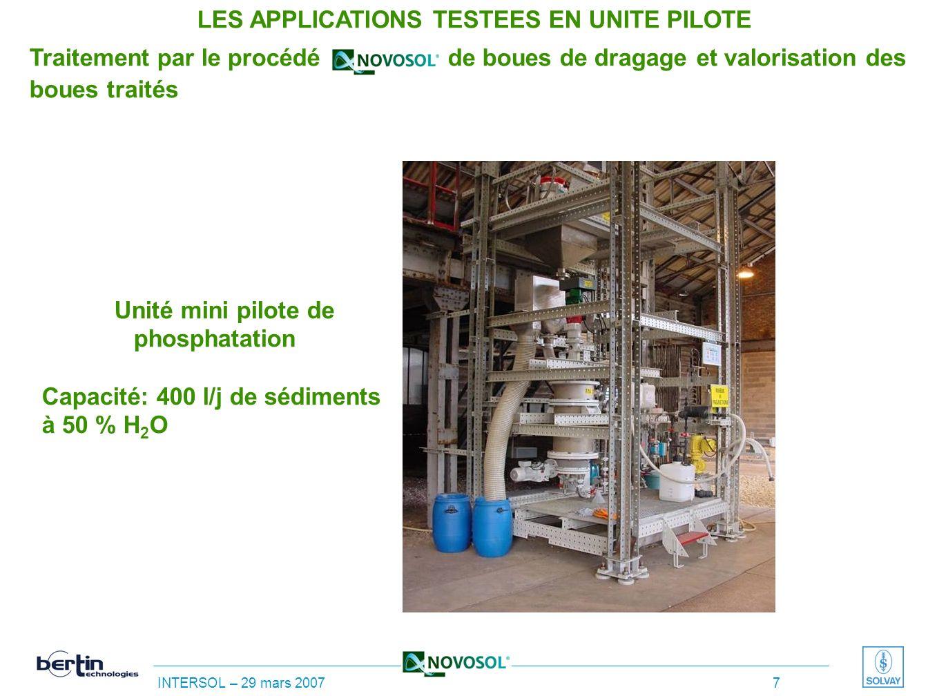 INTERSOL – 29 mars 2007 6 Classification européenne des déchets : 17 05 05 * Boues de dragage contenant des substances dangereuses Valeurs limites (co