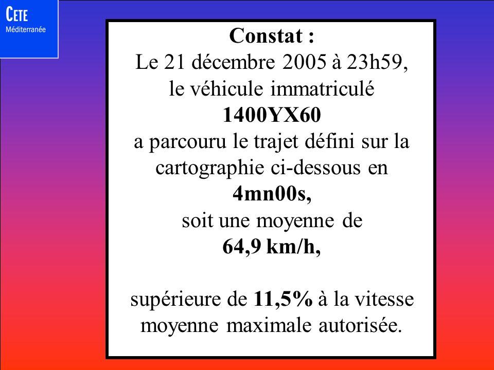 Je 21/12/2005 23:52:59,2 RD64 entre Aix en Provence et Roquefavour N° 1400YX60 Coordonnées GPS: 123456789,987654321 Appareil de prise de vue XZYBGH Photo en A Je 21/12/2005 23:59:59,2 RD18 entre Eguilles et Les Milles N° 1400YX60 Coordonnées GPS: 123456666,987657771 Appareil de prise de vue JKLGHNB Photo en B