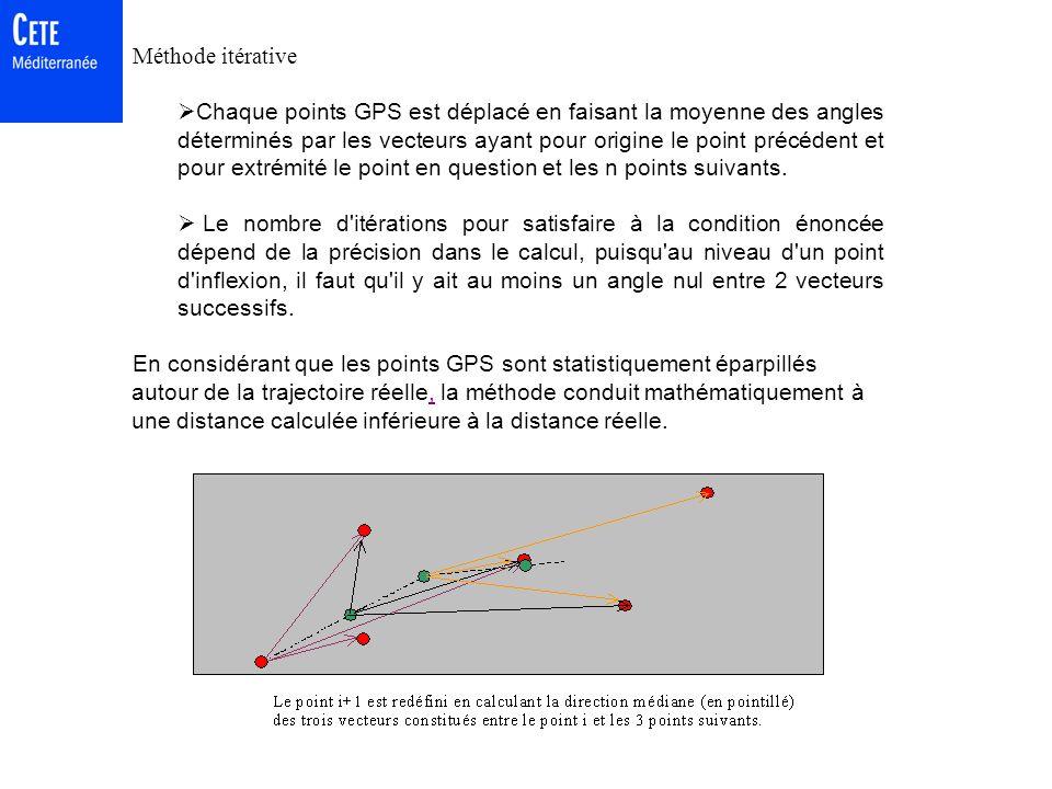 Calcul de la distance Objectif non critique Méthode externe par Odomètre homologué (roulette à main dangereuse, pas de cartographie,...) Méthode de Ka