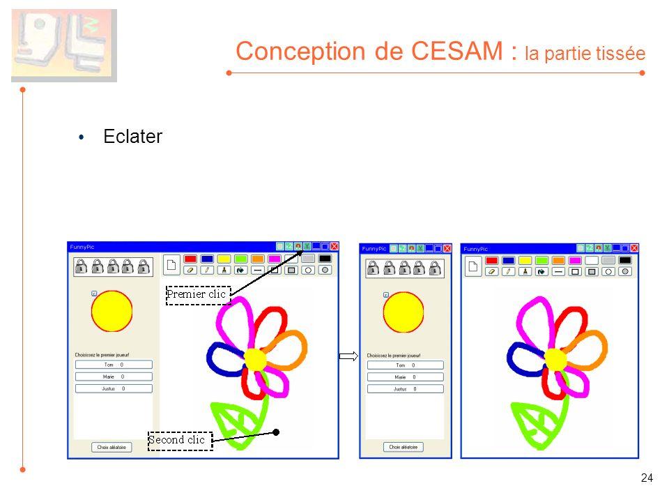 Conception de CESAM : la partie tissée Eclater 24