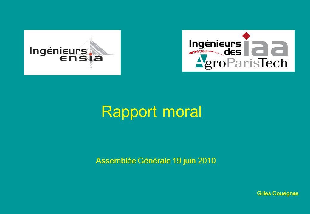 Rapport moral Assemblée Générale 19 juin 2010 Gilles Couégnas