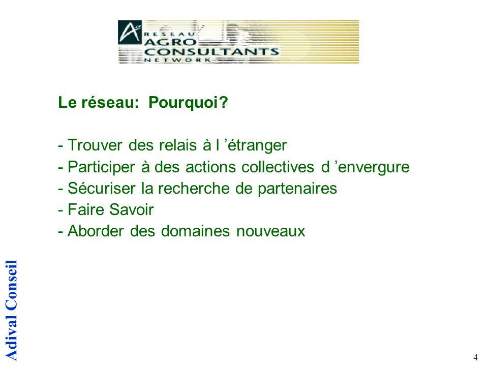 Adival Conseil 4 Le réseau: Pourquoi.
