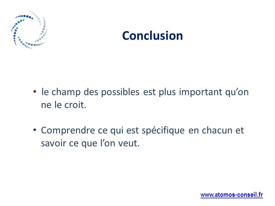Conclusion www.atomos-conseil.fr le champ des possibles est plus important quon ne le croit.