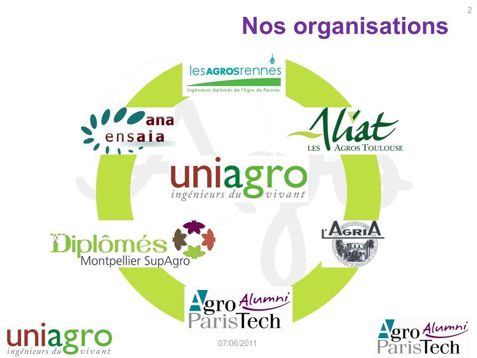 Nos organisations 07/06/2011 2