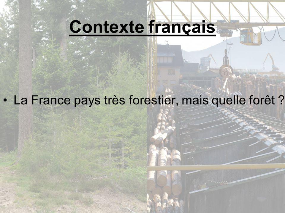 La forêt française est surtout une forêt feuillue avec plus de 59% de sa surface en peuplements feuillus purs, et plus de 15 espèces sciables les peuplements résineux sont les plus productifs.