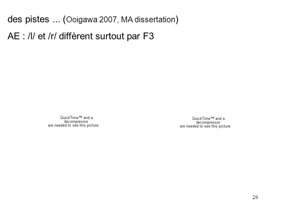 28 (américains) (thai) (Abramson & Lisker 1970) La substance sonore nexplique pas tout ! VOT>