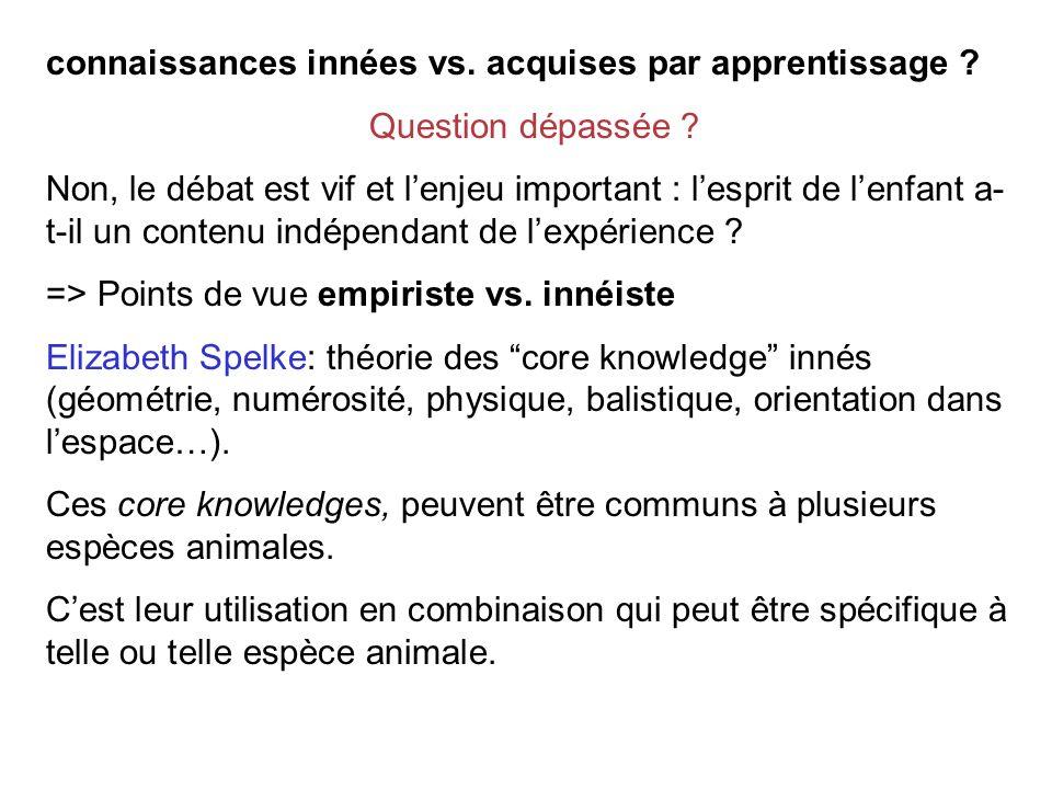 connaissances innées vs.acquises par apprentissage .