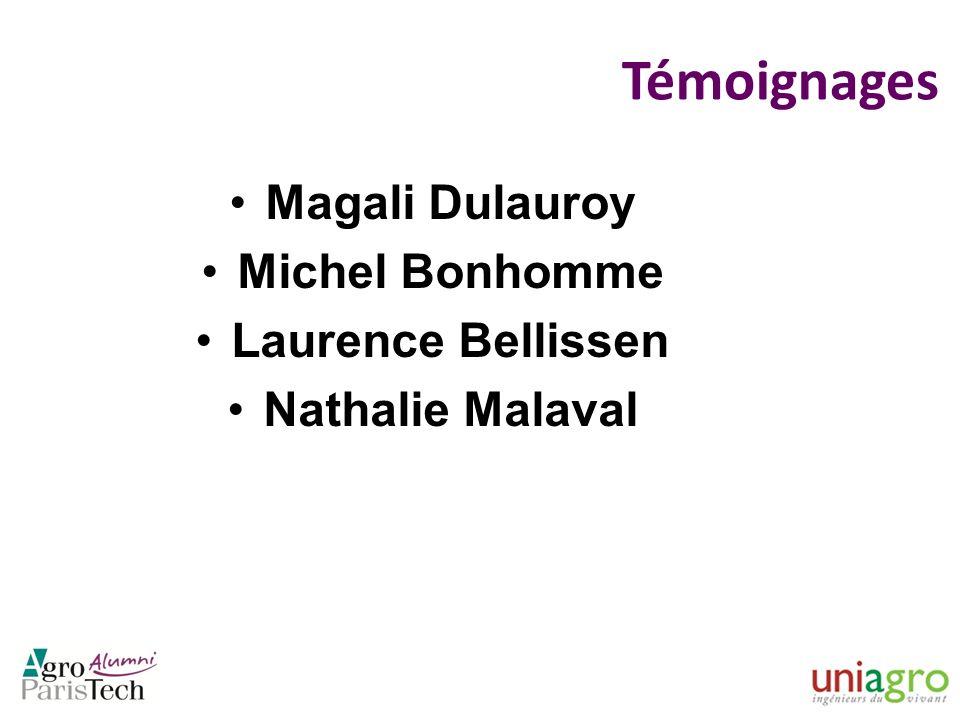 Témoignages Magali Dulauroy Michel Bonhomme Laurence Bellissen Nathalie Malaval