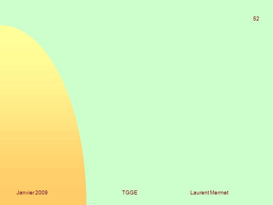 Laurent Mermet 52 Janvier 2009TGGE