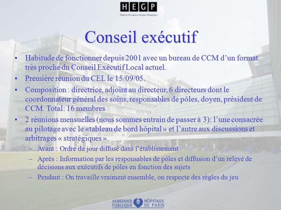 Conseil exécutif Habitude de fonctionner depuis 2001 avec un bureau de CCM dun format très proche du Conseil Exécutif Local actuel.Habitude de fonctio