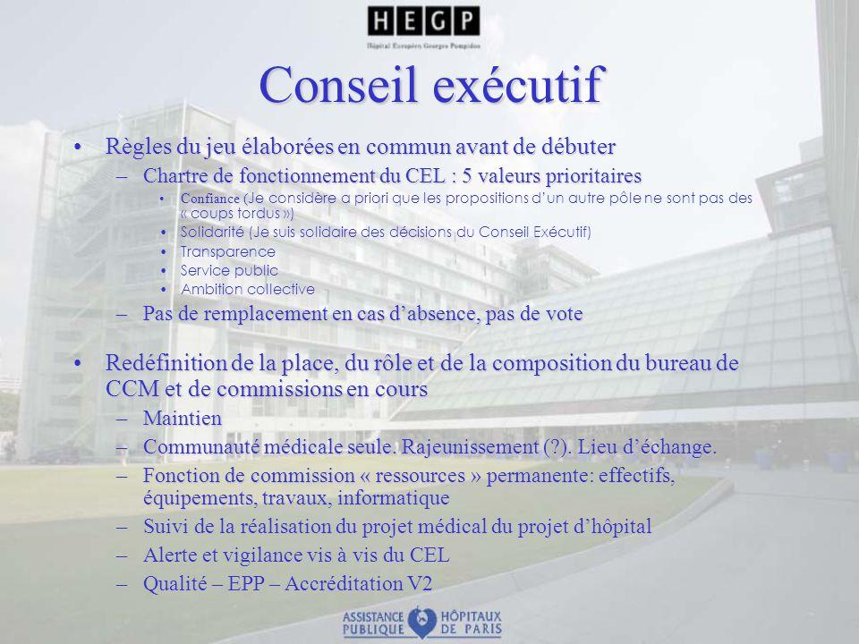 Conseil exécutif Règles du jeu élaborées en commun avant de débuterRègles du jeu élaborées en commun avant de débuter –Chartre de fonctionnement du CE