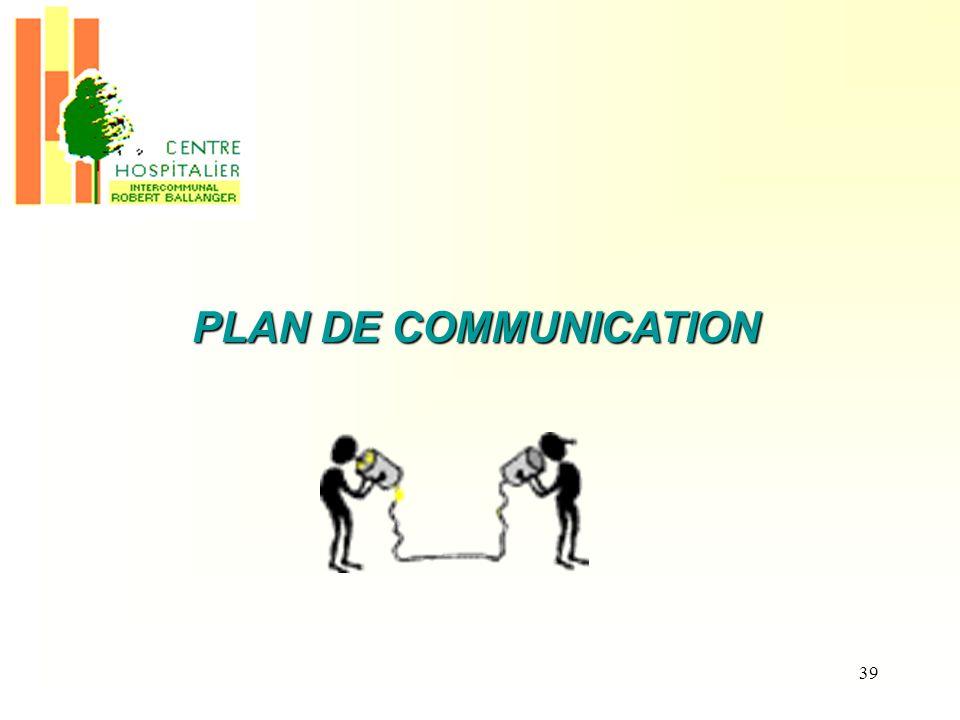39 PLAN DE COMMUNICATION