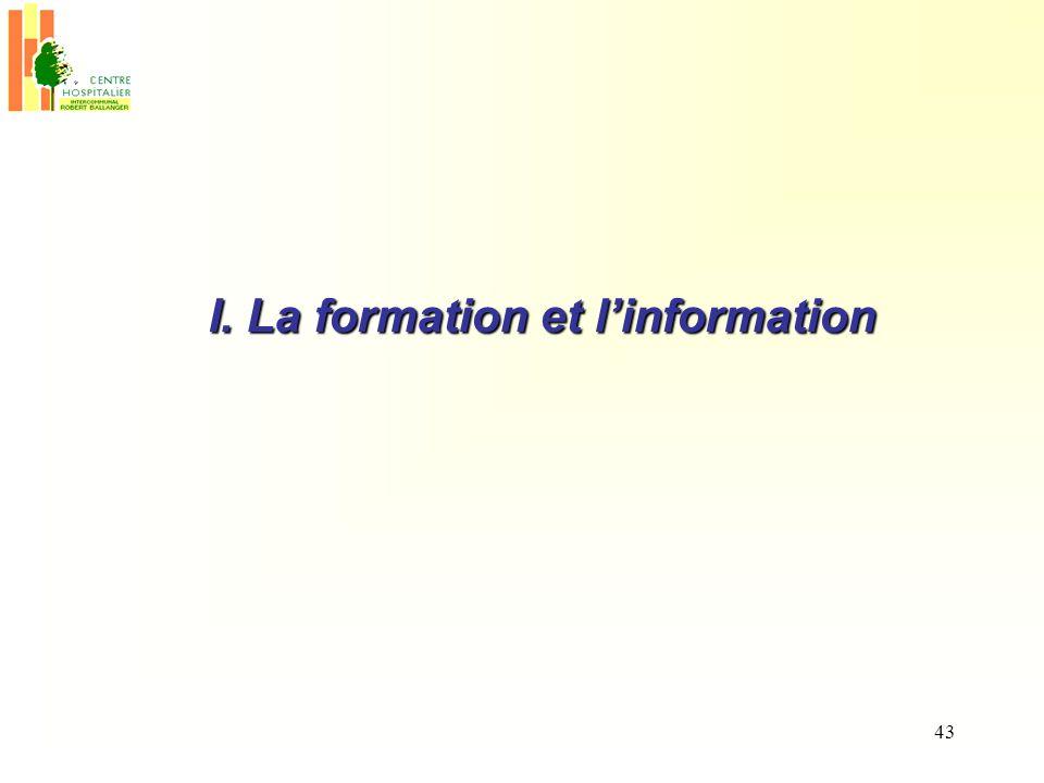 43 I. La formation et linformation