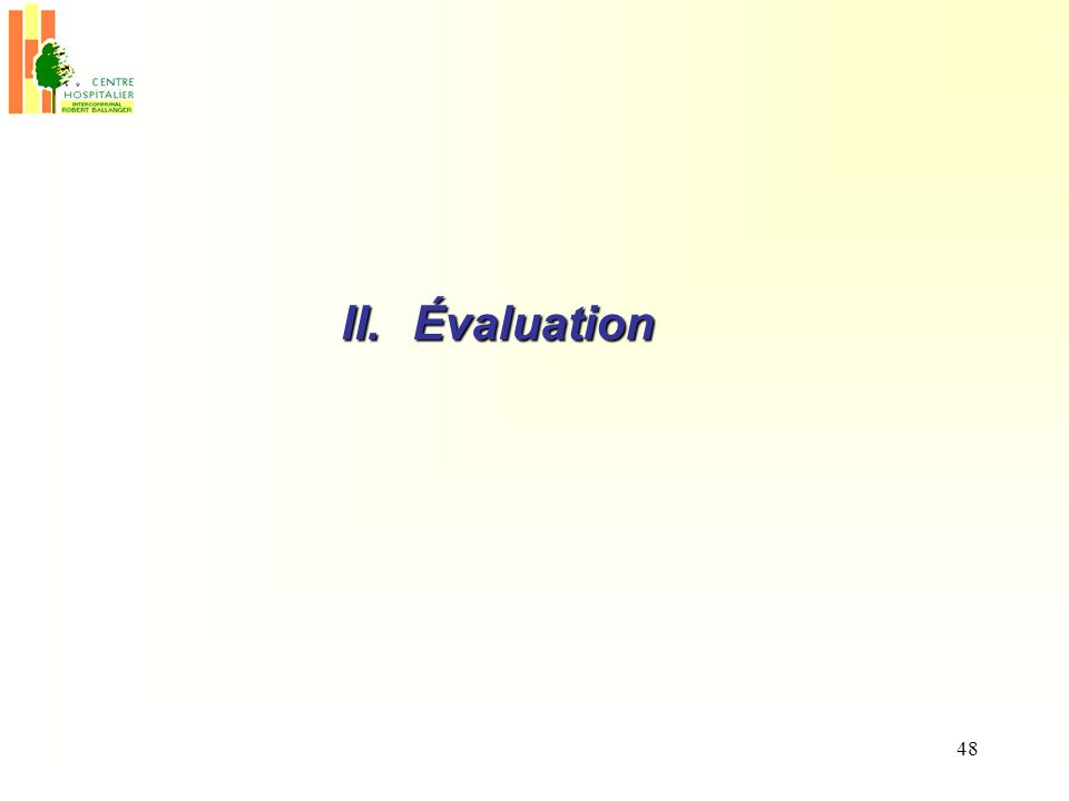 48 II.Évaluation