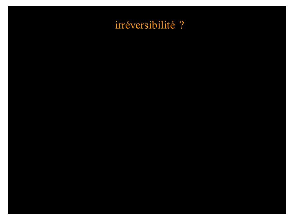 irréversibilité ?