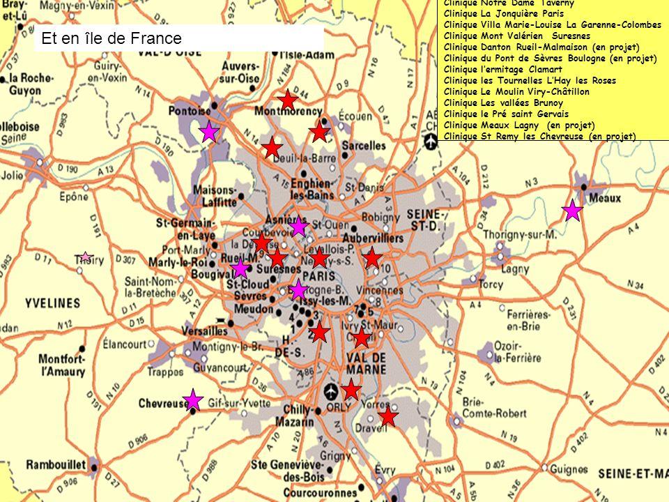 5 Clinique les sources Montmorency Clinique Notre Dame Taverny Clinique La Jonquière Paris Clinique Villa Marie-Louise La Garenne-Colombes Clinique Mo