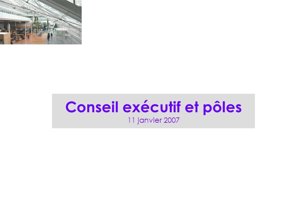 Conseil exécutif et pôles 11 janvier 2007