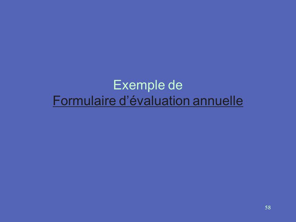 58 Exemple de Formulaire dévaluation annuelle Formulaire dévaluation annuelle