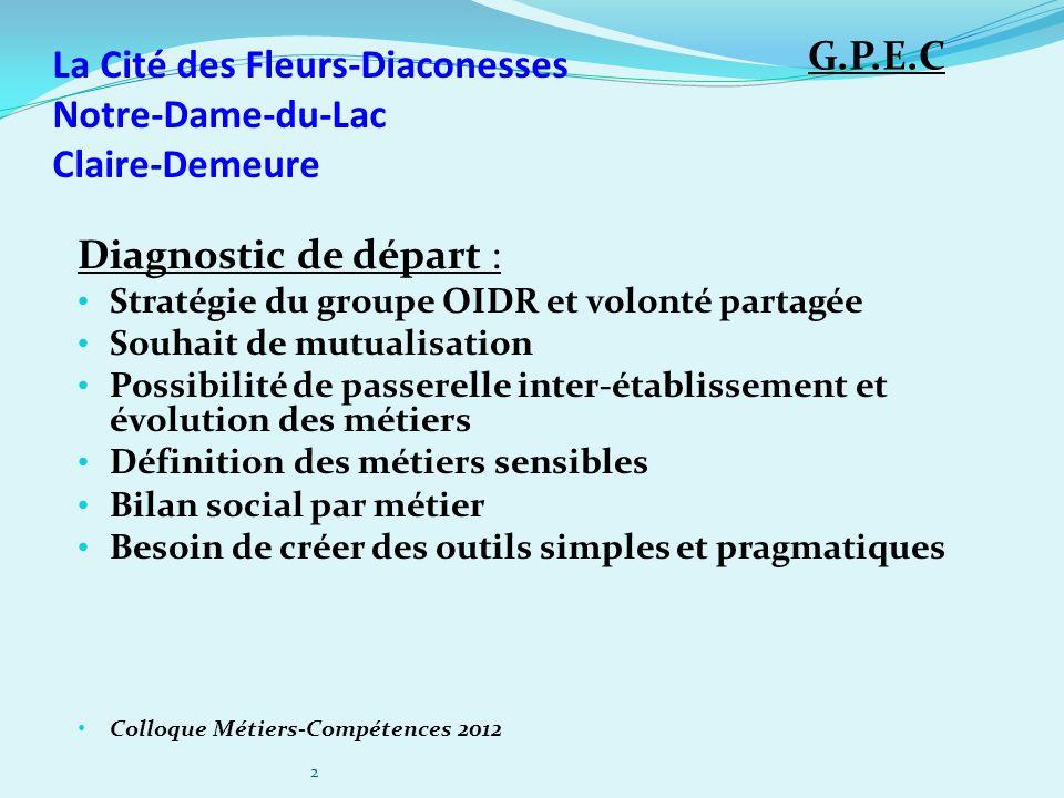 Diagnostic de départ : Stratégie du groupe OIDR et volonté partagée Souhait de mutualisation Possibilité de passerelle inter-établissement et évolutio