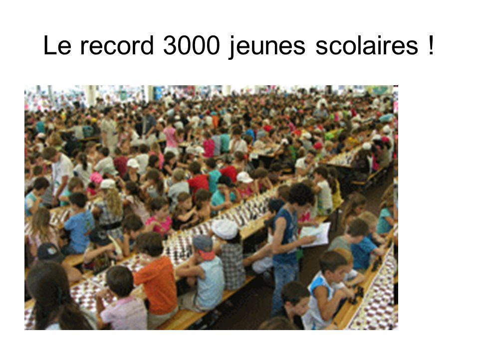 Le record 3000 jeunes scolaires !