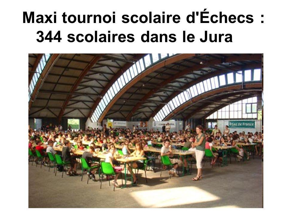 Maxi tournoi scolaire d'Échecs : 344 scolaires dans le Jura
