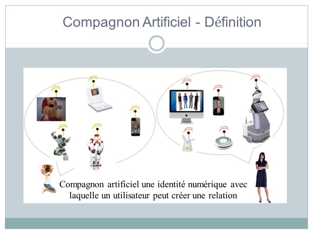 Compagnon Artificiel - D é finition Compagnon artificiel une identité numérique avec laquelle un utilisateur peut créer une relation