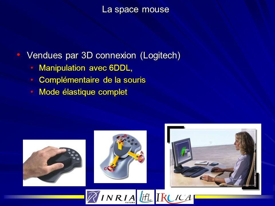 La space mouse Vendues par 3D connexion (Logitech) Vendues par 3D connexion (Logitech) Manipulation avec 6DDL,Manipulation avec 6DDL, Complémentaire d
