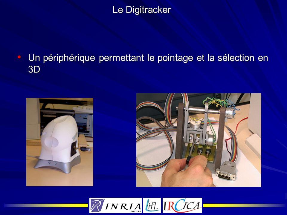 Le Digitracker Un périphérique permettant le pointage et la sélection en 3D Un périphérique permettant le pointage et la sélection en 3D