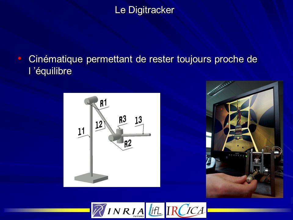 Le Digitracker Cinématique permettant de rester toujours proche de l équilibre Cinématique permettant de rester toujours proche de l équilibre