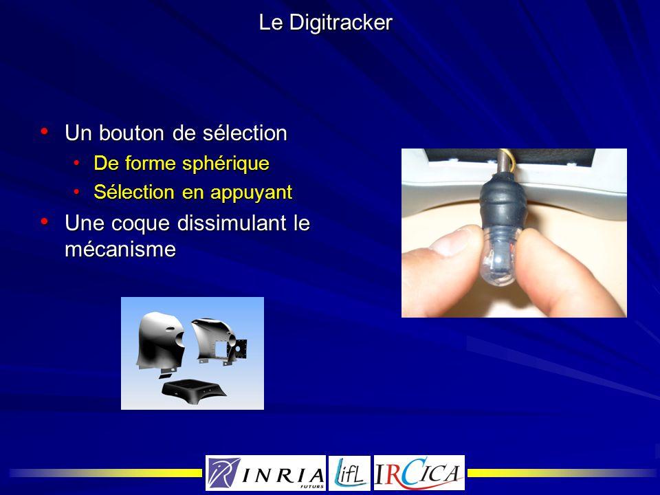 Le Digitracker Un bouton de sélection Un bouton de sélection De forme sphériqueDe forme sphérique Sélection en appuyantSélection en appuyant Une coque