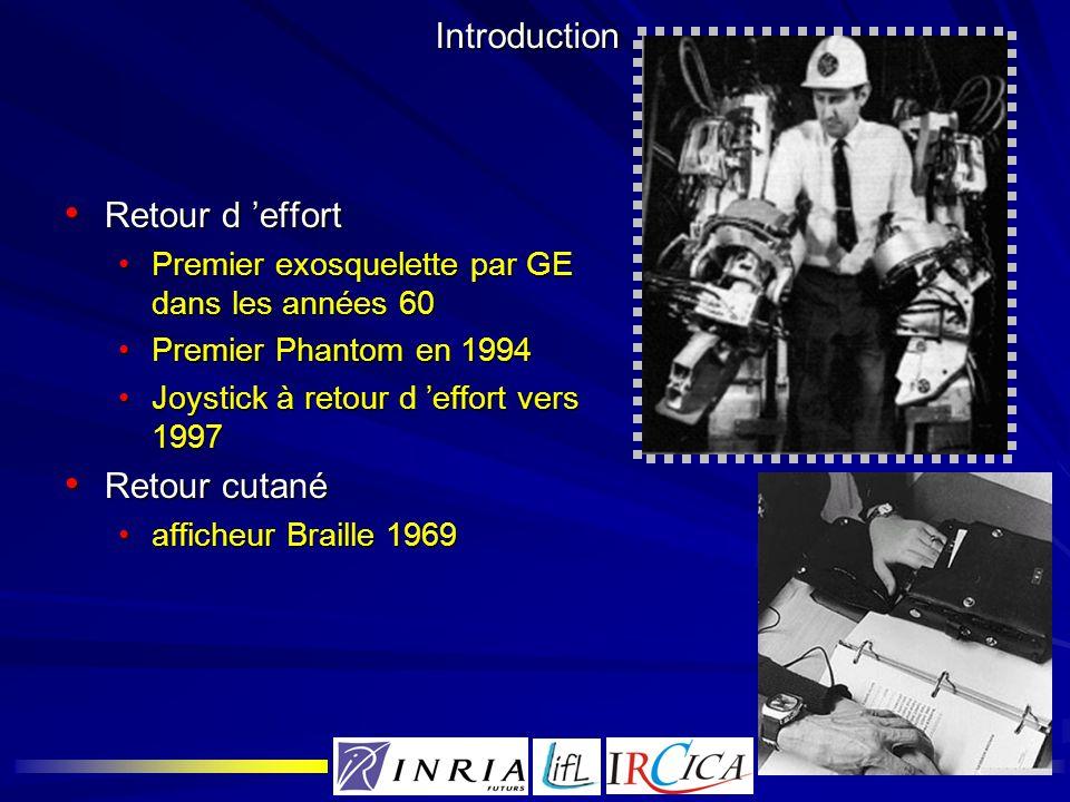 Introduction Retour d effort Retour d effort Premier exosquelette par GE dans les années 60Premier exosquelette par GE dans les années 60 Premier Phan