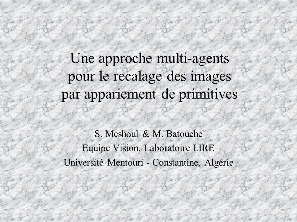 Une approche multi-agents pour le recalage des images par appariement de primitives S. Meshoul & M. Batouche Equipe Vision, Laboratoire LIRE Universit