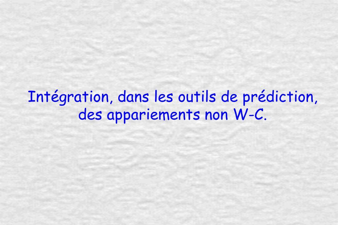 Intégration, dans les outils de prédiction, des appariements non W-C.